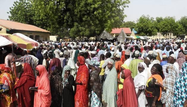 Votando en Nigeria, este sábado
