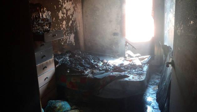 Dos incendios provocan daños en viviendas de Tudela y Corella