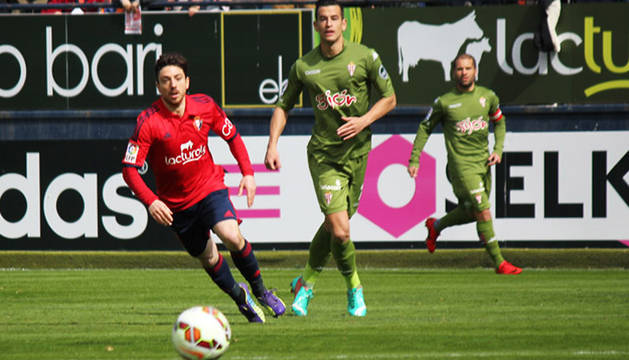 Sisi, en el partido contra el Sporting