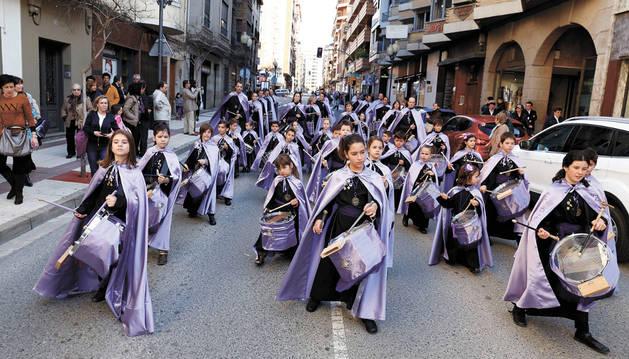 Tudela, al son de los bombos y tambores de la Semana Santa