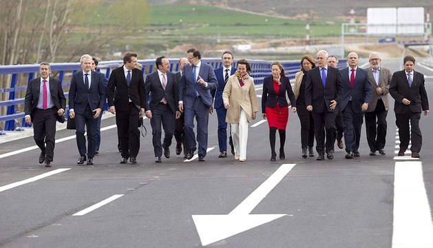 Inauguración del enlace en la A-12 entre Navarra y La Rioja