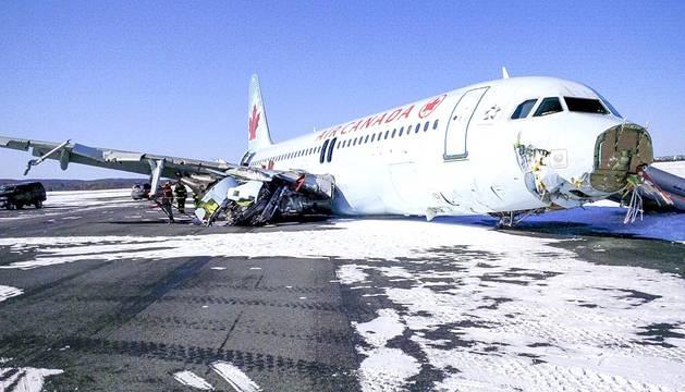 Accidente aéreo en Canadá