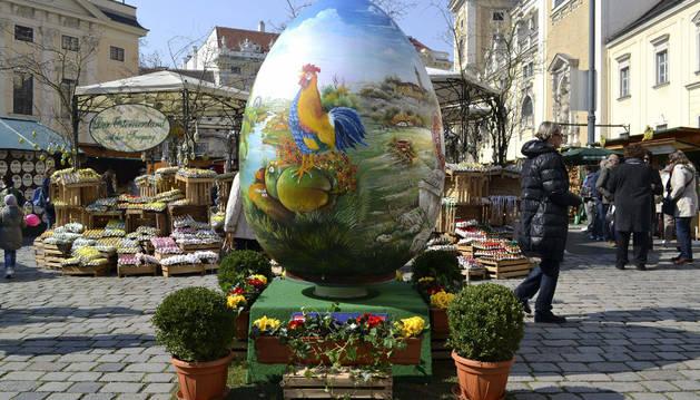 Los huevos de Pascua, expuestos en Viena.