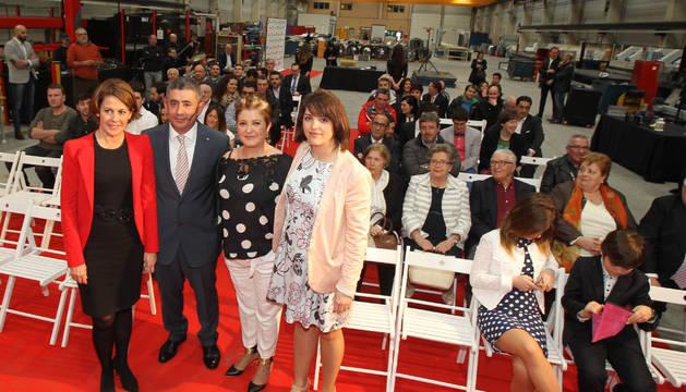 De izda. a dcha.: Yolanda Barcina, Manuel Saborido, Isabel Jiménez Malo, y Marisa Jiménez Malo.