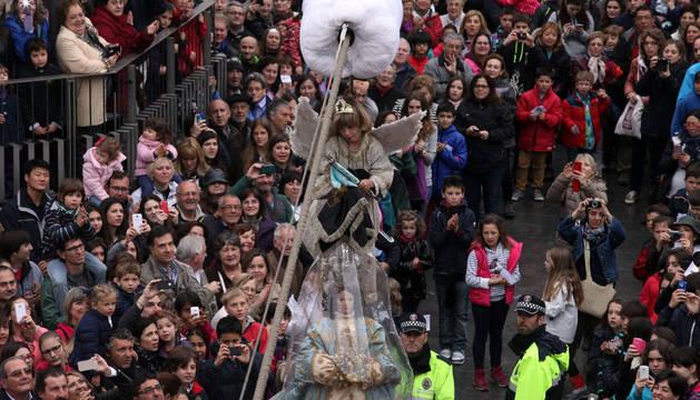 La Bajada del Ángel en Tudela, este domingo