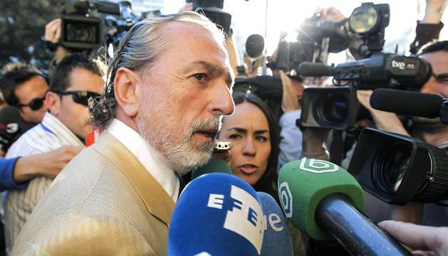 Francisco Correa, uno de los supuestos cabecillas de la trama Gürtel, a su llegada al tribunal