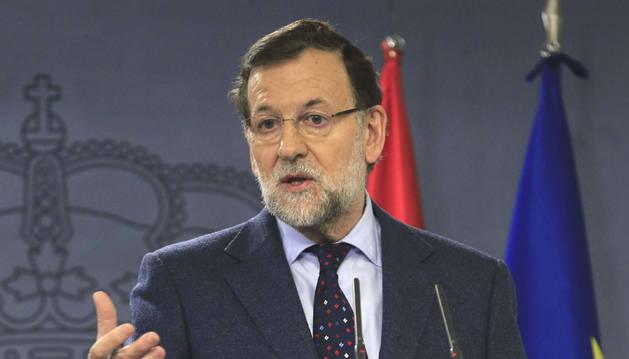Rajoy, en una rueda de prensa de La Moncloa este martes.