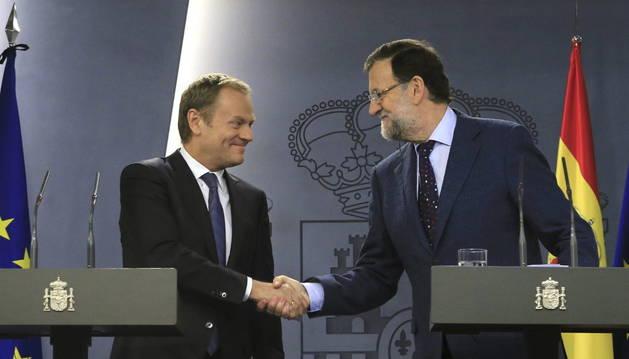 El presidente del Gobierno y el presidente del Consejo Europeo.
