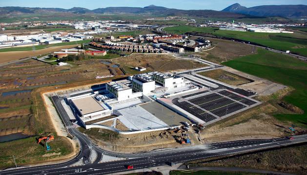 Vista aérea del colegio Izaga, en cuyo exterior se desarrollará el PSIS.
