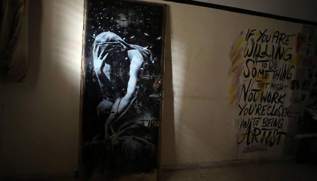 La pintura de Banksy vendida en Gaza por 160 euros.