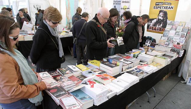 Feria del libro de Pamplona en 2012.