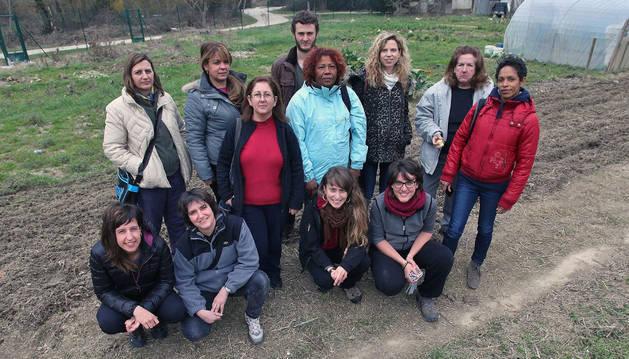 Clases en la huerta por la comarca de Pamplona