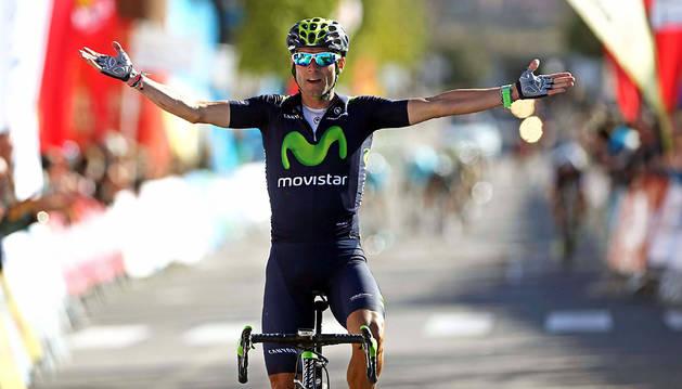 Valverde, al ganar la quinta etapa de la Volta.