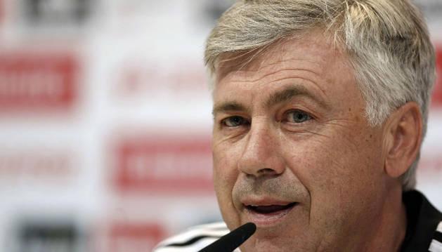 El técnico del Real Madrid, Carlo Ancelotti