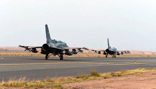 Aviones de la Coalición Árabe.