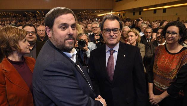 Artur Mas y Oriol Junqueras.
