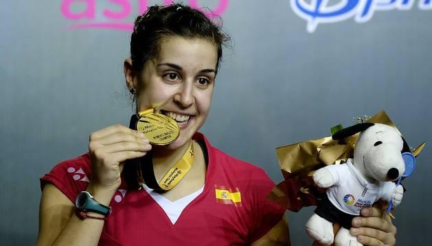 Carolina Marín celebra su Open de Malasia