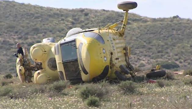 Misterioso accidente de un helicóptero en Almería