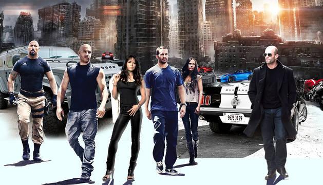 Imagen promocional de 'Fast & Furious 7'.