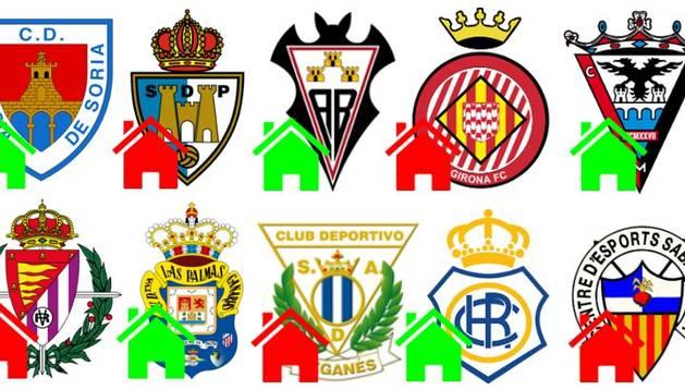 Los diez rivales de Osasuna.