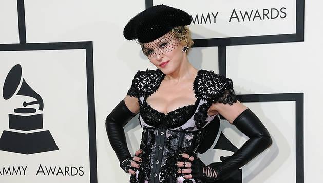 Madonna, a su llegada a la gala de entrega de los premios Grammy, el pasado mes de febrero.
