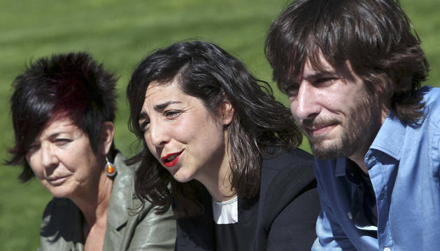 Tere Sáez, Laura Pérez y Mikel Buil.