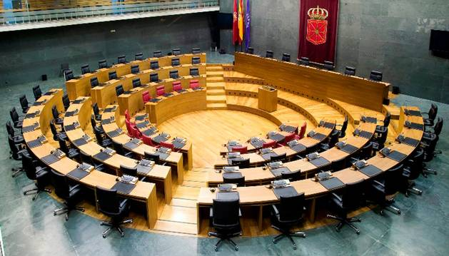 Hemiciclo del Parlamento de Navarra.