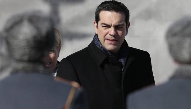 Alexis Tsipras, en una ceremonia este miércoles en Moscú.
