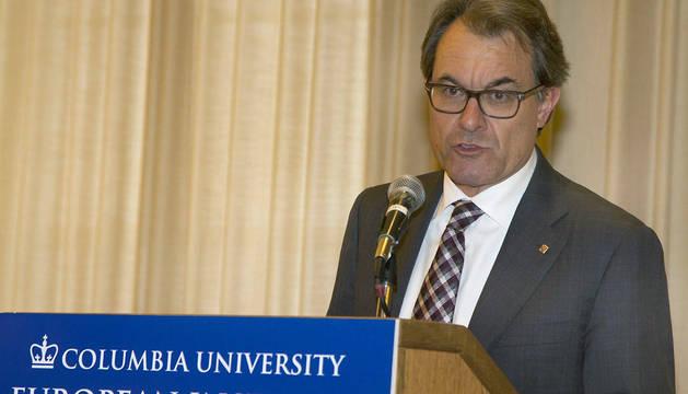 Mas, durante su discurso en Columbia.