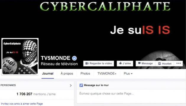 Imagen de la cuenta oficial en Facebook del canal internacional francés TV5 Monde.