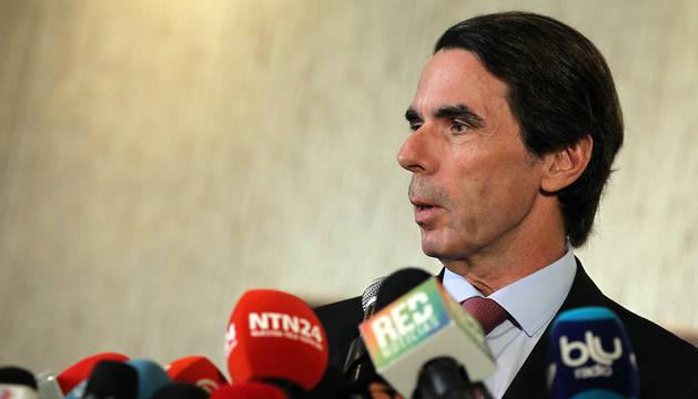 Aznar, en Panamá.