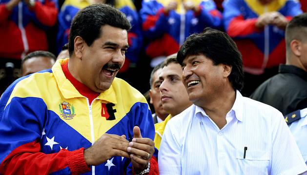 Maduro, con Evo Morales este jueves.