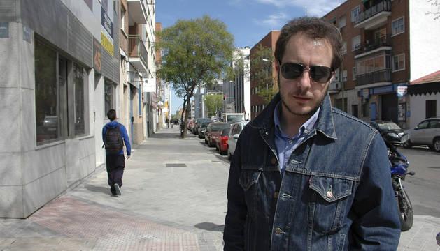 El escritor y periodista Fernando Navarro, en Madrid.