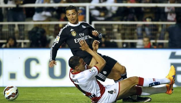 Cristiano, en la acción con Amaya.
