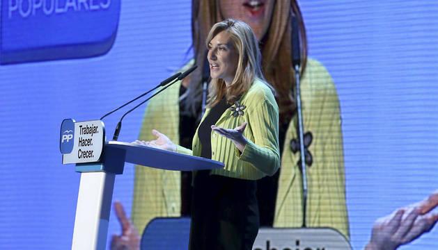 Ana Beltrán, en la  convención del PP.