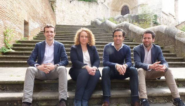 Pablo Casado, María Unzué, Pablo Zalba y Borja Semper.