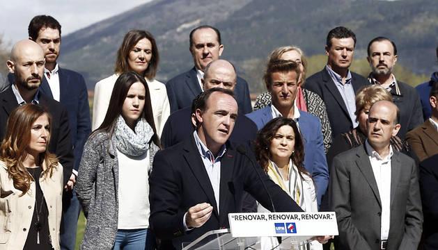 Esparza, en la presentación de la candidatura de UPN.