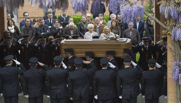 Un momento del funeral de José Antonio Martínez.