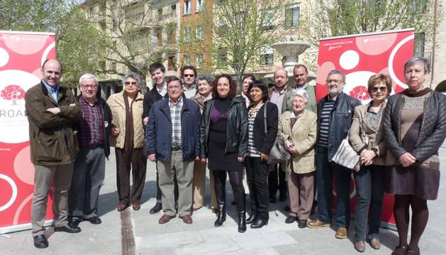 La apuesta de Geroa Bai para los comicios, con Ricardo Gómez de Segura y, junto a él, Pablo Ezcurra.