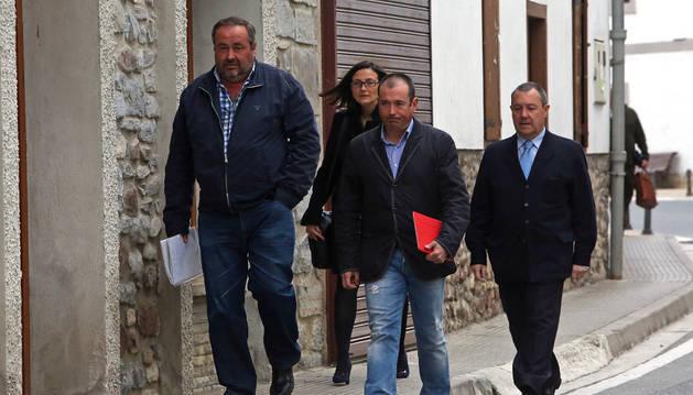 Alberto Idoate, edil de UPN; los abogados Idoya Ábrego y Ángel Ruiz de Erenchun e Iñigo Solchaga, exedil de UPN.