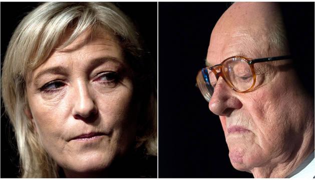 Marine y Jean Marie Le Pen.