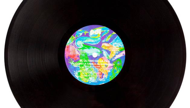 Un disco de vinilo.