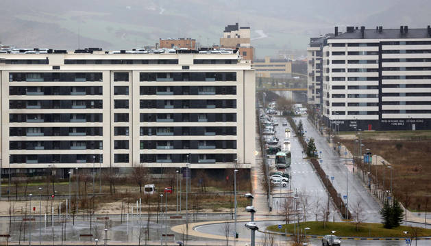Vista general del barrio de Erripagaña.