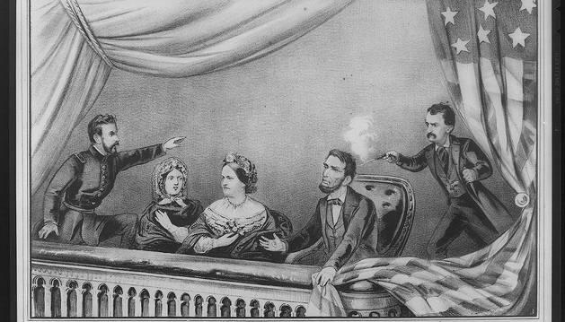 Reproducción del asesinato de Lincoln.