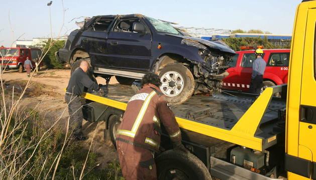 Estado en el que quedó un vehículo tras un accidente ocurrido este fin de semana.