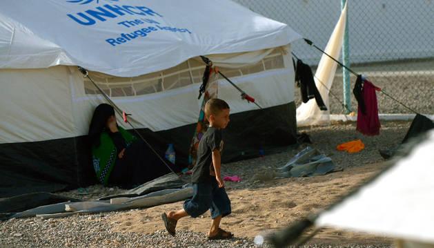Un campo de refugiados yemeníes en Orock, Djibouti.