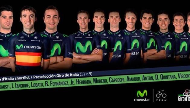 Preselección del Movistar para el Giro