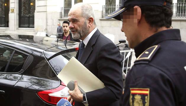 Manuel Chaves, llegando al Tribunal Supremo este martes.