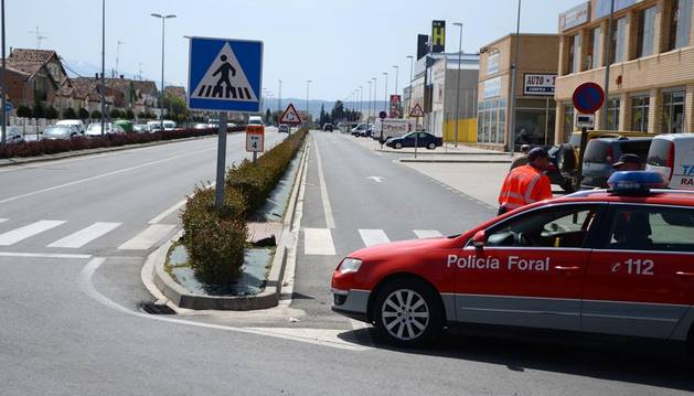 Un peatón de 81 años, herido grave al ser atropellado en Corella