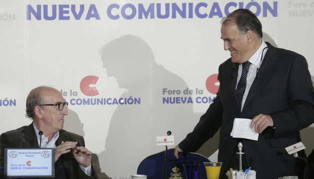 Javier Tebas, este martes